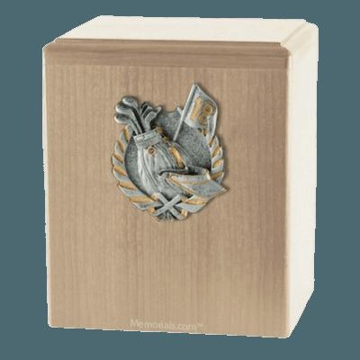 Golf Fan Maple Cremation Urn