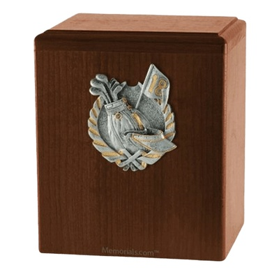Golf Fan Walnut Cremation Urn