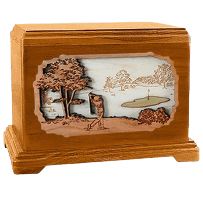 Golf Mahogany Hampton Cremation Urn