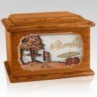Golf Mahogany Memory Chest Cremation Urn