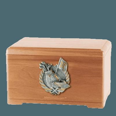 Golf Tour Light Cherry Cremation Urn