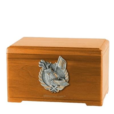 Golf Tour Oak Cremation Urn