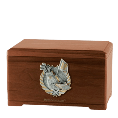 Golf Tour Walnut Cremation Urn
