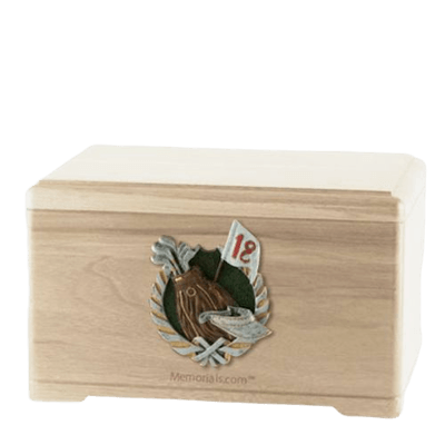 Golfer Maple Cremation Urn