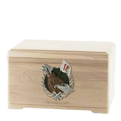 Golfer Maple Cremation Urn