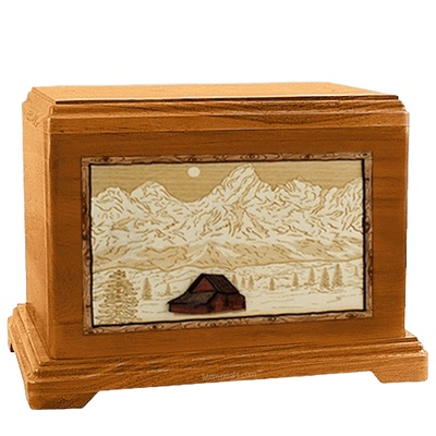 Grand Tetons Mahogany Hampton Cremation Urn