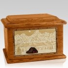 Grand Tetons Mahogany Memory Chest Cremation Urn