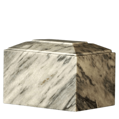 Gray Ivory Infinity Marble Cremation Urn