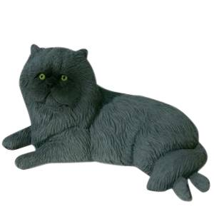Gray Persian Cat Cremation Urn