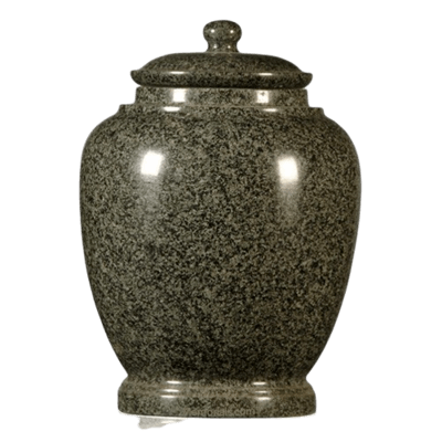 Green Satin Granite Cremation Urn