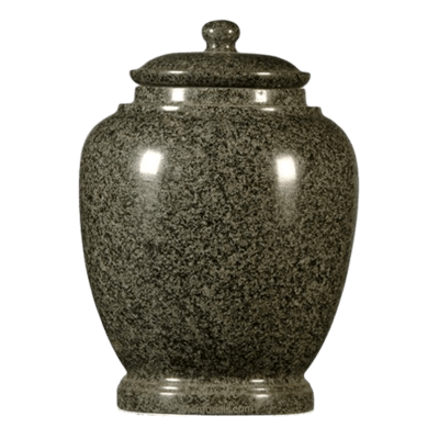 Green Satin Granite Cremation Urn
