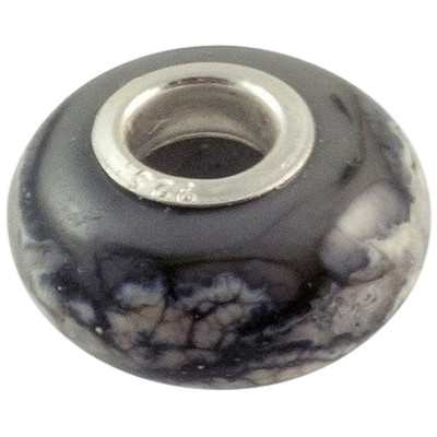 Grey Elegance Cremation Ash Bead
