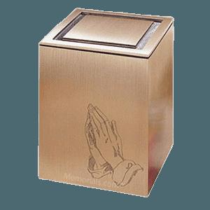 Guardian Praying Hands Bronze Cremation Urn