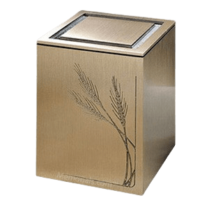 Guardian Wheat Bronze Cremation Urn