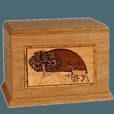 Heartland Deer Mahogany Companion Urn