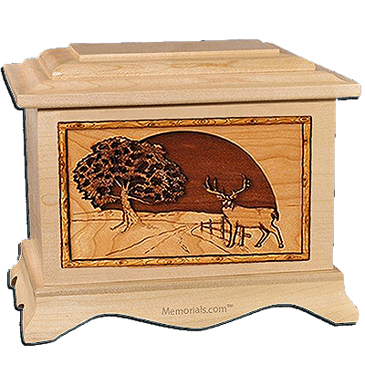 Heartland Deer Maple Cremation Urn for Two