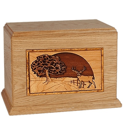 Heartland Deer Oak Companion Urn