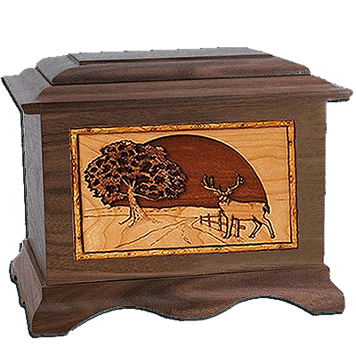Heartland Deer Walnut Cremation Urn For Two