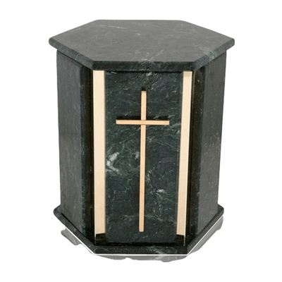 Hexagon Blue Tone Granite Urns