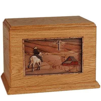 Horse & Cross Mahogany Companion Urn