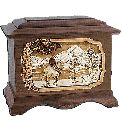 Horse & Lake Cremation Urns for Two