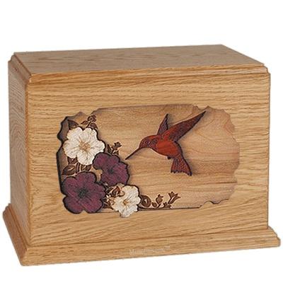 Hummingbird Oak Companion Urn