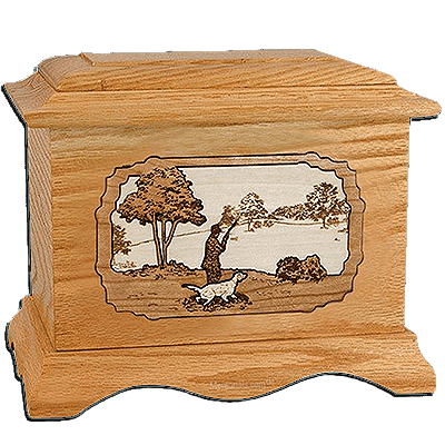 Hunter Oak Cremation Urn for Two