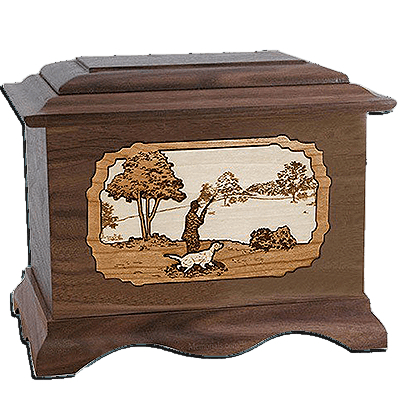 Hunter Walnut Cremation Urn For Two