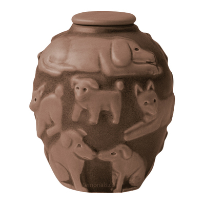 Happy Dog Apricot Cremation Urn