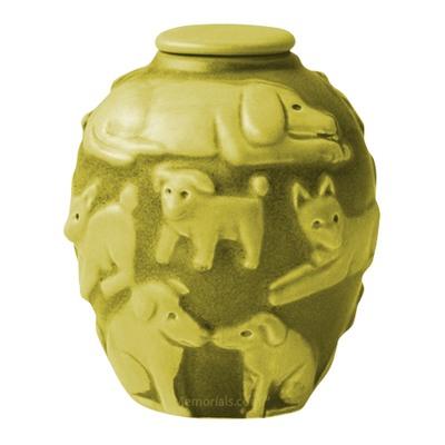 Happy Dog Citron Cremation Urn