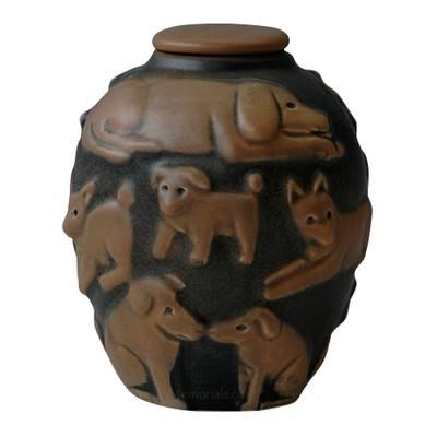 Happy Dog Coco & Black Cremation Urn