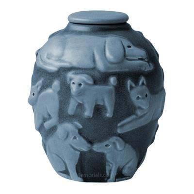 Happy Dog Jade Cremation Urn