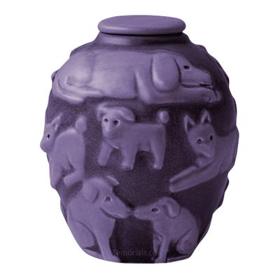 Happy Dog Lilac Cremation Urn