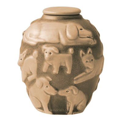 Happy Dog Straw Cremation Urn