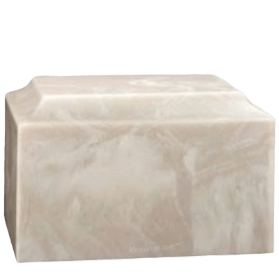 Harmony Blanc Marble Cremation Urn