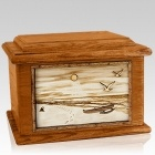 Hawaiian Mahogany Memory Chest Cremation Urn
