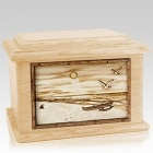 Hawaiian Maple Memory Chest Cremation Urn
