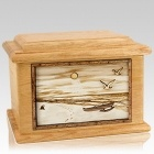 Hawaiian Oak Memory Chest Cremation Urn