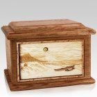Hawaiian Walnut Memory Chest Cremation Urn