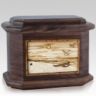 Hawaiian Walnut Octagon Cremation Urn