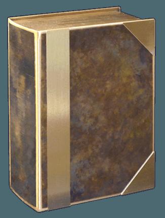 Hazel Book Bronze Cremation Urn