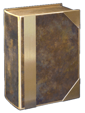 Hazel Book Bronze Cremation Urn