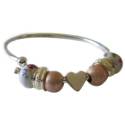 Heart Ash Cremation Bracelet