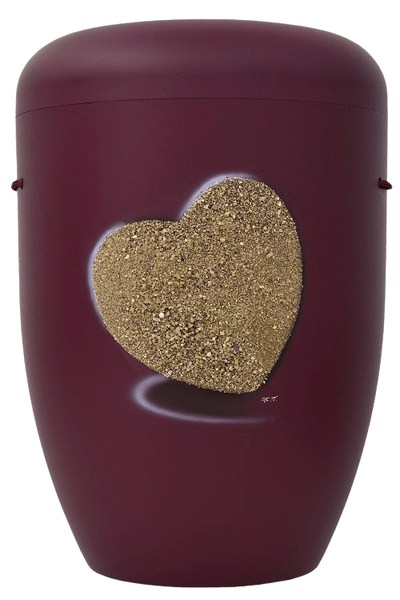 Heart Biodegradable Urn in Red