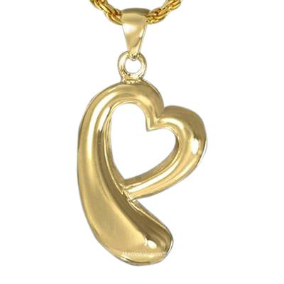 Heart Drop Cremation Pendant IV