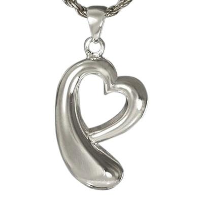 Heart Drop Cremation Pendant