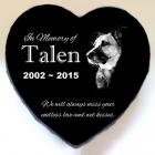 Heart Granite Pet Grave Marker