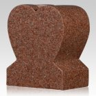 Redwood Heart Granite Vase