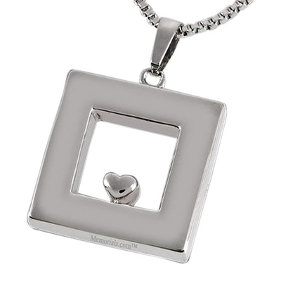 Heart Within Cremation Pendant