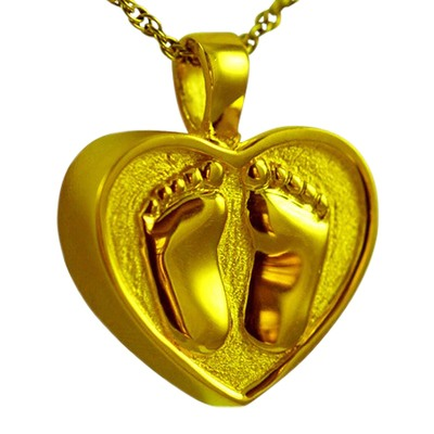 Footprint Heart Keepsake Pendant IV